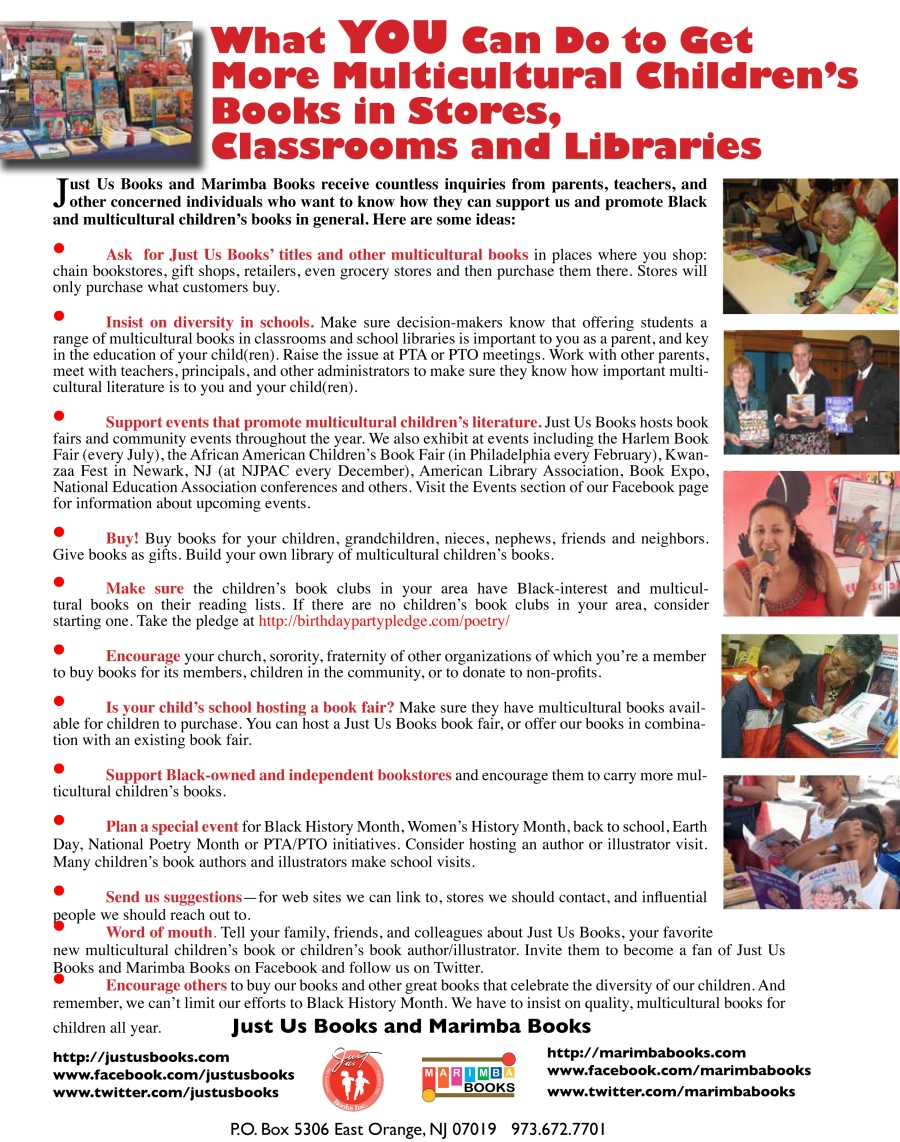 What YOU Can Do_flyer_Multicultural books 2014
